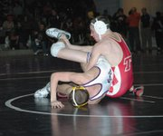 Justin Soetaert (119) finished fifth with a 3-2 record on Saturday at the Baldwin Invitational.