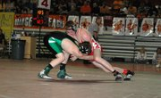 Tyler Hand, a 130-pound Tonganoxie junior, made his first trip to the Class 4A state wrestling tournament this weekend and went 0-2 at Salina.