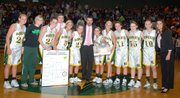 The 2009-2010 Basehor-Linwood girls basketball team won the Class 4A substate championship and is headed to the state tournament.
