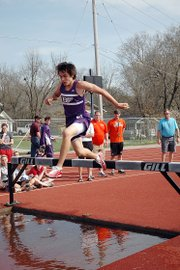 Baldwin High School sophomore Tosh Mihesuah won the boys' steeplechase Thursday at the Baldwin Invitational.