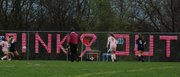 """St. James Academy and St. Thomas Aquinas met for the second annual """"Pinkout"""" girls soccer match and fundraiser for breast cancer awareness."""