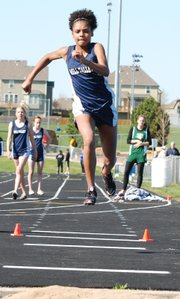 Mill Valley freshman Madison Estell won the triple jump at the Jaguar Invitational with a distance of 33 feet, 11 1/2 inches.