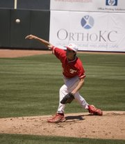 Dalton Harrington threw two innings of relief for THS in a 15-5 loss to Spring Hill on Thursday in Kansas City, Kan. The sophomore was the only Tonganoxie pitcher to not allow a run.