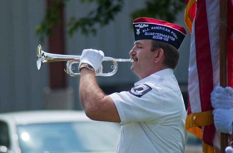 David Cuba played the bugle during the ceremony.