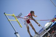 Jake Willis grazes the bar on one of his pole vault attempts Friday at Cessna Stadium in Wichita. A Tonganoxie High junior, Willis' fifth-place medal in the event was one of eight won by Chieftains this weekend at the state track and field championships.