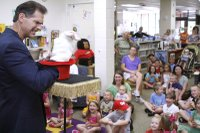 Illusionist makes magic at Summer Reading program