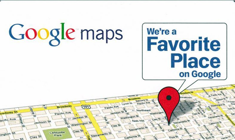 "Johnson County Library is now listed as a ""Google Favorite Place"""