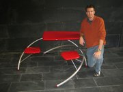 Matt Johnson display's his a Paradox table.  He designed and built it in the fall of 2008.