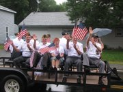 The Basehor Veterans of Foreign Wars waves to the July 4 crowd.