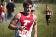 Patrick Rachford was the top performer for Tonganoxie High's boys cross country team Friday in a dual against Lansing. The Chieftains lost the dual but Rachford placed third.