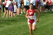 THS senior Alex Hauk was the fastest cross country runner for the girls on Tuesday at the Tonganoxie Invitational, finishing 26th overall.