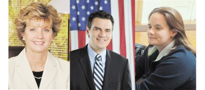 From left, Stephene Moore, Kevin Yoder and Jasmin Talbert are seeking election to the 3rd Congressional District seat in Kanass.