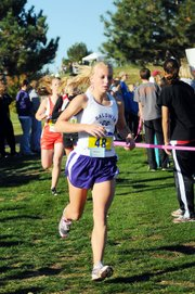 Baldwin High School junior Elizabeth Sigvaldson led the Bulldogs in the Class 4A state cross country race Saturday morning. Sigvaldson finished seventh to help the Bulldogs win their fourth straight state championship.