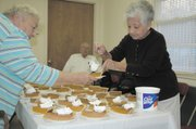 Pumpkin pie was served for dessert to the veterans.
