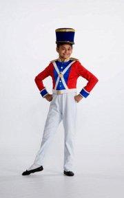 "Teresa Pedroza, Bluejacket-Flint Elementary School sixth-grader, plays a toy solider in the Kansas City Ballet's production of ""The Nutcracker."""
