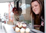 Brian Jurgens of Shawnee-based E.F. Hobbs Specialty Coffee and Shawnee resident Renee Kloeblen of Ms. Nene's Takes the Cake Bakery teamed up to create CoffeeCakeKC, a mobile truck that sells Kloeblen's boutique cupcakes and Jurgens' coffee concoctions.