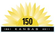 Kansas Sesquicentennial logo.