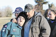 "While taping his show ""Only in America"" with Boy Scouts at Camp Naish, comedian Larry the Cable Guy (right) ""went out of his way"" to interact with the Scouts and spent special time with a Scout who has Down syndrome."