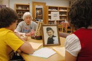 Virginia Summers, an Army nurse in World War II, shared details of her experience while Trailridge Middle School eighth-graders interview her for a social studies project.