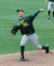 Basehor-Linwood senior Austin Stubbs pitched the Bobcats to a victory against Bishop Ward for the second straight season Monday, 2-1.