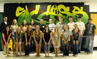 Twenty seniors in the De Soto High School class of 2011 have achieved a 4.0 grade point average and/or have earned a placed in the top 10 percent of the class. Not pictured: Dalton Thompson and Katie McKeirnan.
