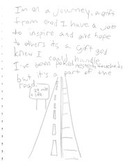 On the day Garett Barraza found out he had Leukemia, the Sacred Heart fourth-grader wrote this entry in his journal.