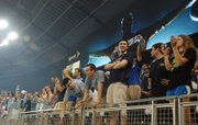 Sporting Kansas City fans are fired up in anticipation of opening kickoff of the first game at LIVESTRONG Sporting Park. Sporting KC and the Chicago Fire played to a 0-0 tie.