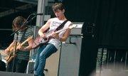 The Arctic Monkeys performs.