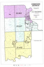 Leavenworth County staff&#39;s Proposal 4 for county commission redistricting would move the portion of Stranger Township north of U.S. Highway 24-40 into District 2, in anticipation of population growth in the southern part of the county. Population figures are based on the 2010 Census.