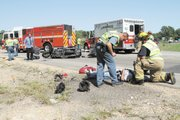 The second of three serious accidents on Thursday, Aug. 25, 2011 involved a car-motorcycle accident on U.S. Highway 24/40 near the Douglas-Leavenworth county line about 3 p.m. Two people were transported to area hospitals.