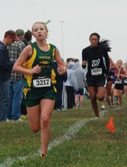 Basehor-Linwood freshman Quinnlyn Walcott led the Bobcats at the Bonner Springs Invitational.