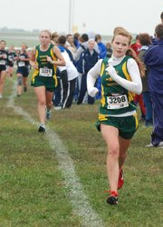 Basehor-Linwood sophomore Sarah Rehm competes at the Bonner Springs Invitational.