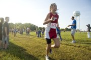 Tonganoxie High sophomore Hunter Cook led the THS girls Tuesday at the Tonganoxie Invitational, finishing 22nd. The Chieftains finished third in the team standings at their home meet.