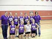 Baldwin Junior High School's eighth-grade varsity volleyball team won the Eudora Tournament on Saturday. Pictured in front, from left, are Kylee Bremer, Emma Burnett, Carlyn Cole and Erica Petry. Back row are coach Danielle Balsman, Kelsey Kehl, Meghan Strobel, Morgan Voigts, Taylor Maxwell, Fayth Peterson and coach Brenda Shawley.