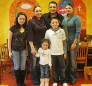 The Zavala family, (from back left): Hannia, Maria, Rogelio and Liliana. From front: Camila and Rogelio, Jr.