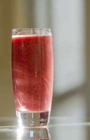A strawberry-based Spa Smoothie.