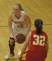 Amanda Holroyd led all scorers with 14 points, including four 3-pointers.