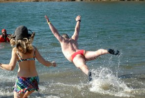 Polar Plunge makes a splash at Shawnee Mission Park