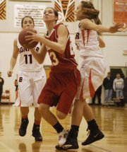 Junior Jenny Whitledge finished with 12 points and 10 rebounds in the Chieftains&#39; 58-50 loss at Bonner Springs in the sub-state championship game.