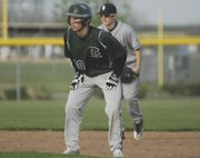 Junior Tanner Garver drove in the Bobcats first run of the season against Mill Valley on Monday.