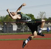 Basehor Linwood's Ben Johnson finished with a 5-6 high jump to place fourth in the event at the 2012 Bobcat Relays on April 5. Johnson also placed in the shot put, discus and throwers relay.