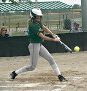Hannah Tush had seven hits, including a three-run home run, in Basehor-Linwood's two-game sweep of Tonganoxie.