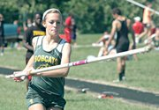 Madison Howard took fourth in the pole vault Wednesday at the KVL track and field meet.