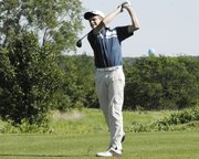 Mill Valley freshman Ben Haddon shot an 81 and placed ninth at the Kaw Valley League tournament at the Eagle Bend Golf Course in Lawrence on Wednesday, May 9.