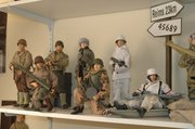The 1/6-scale toy industry is largely populated with World War II figures, like these from Steve Allen's personal collection.
