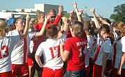 The Tonganoxie High girls soccer team defeated De Soto Tuesday to earn its first-ever state tournament bid.
