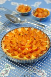 Although they require several hours to prepare, tarts are one of the prettiest ways to show off fresh, ripe apricots. Beneath the fruit, this Apricot Almond Creme Tart has a cookie-like almond crust with pastry cream filling.