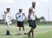 Kyle Harrison, a pro lacrosse player, returned last month to host a lacrosse camp in Overland Park. Harrison called Kansas a growth market for lacrosse.