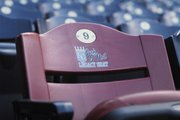 The Buck O&#39;Neil Legacy Seat at Kauffman Stadium in Kansas City, Mo.