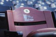 The Buck O'Neil Legacy Seat at Kauffman Stadium in Kansas City, Mo.